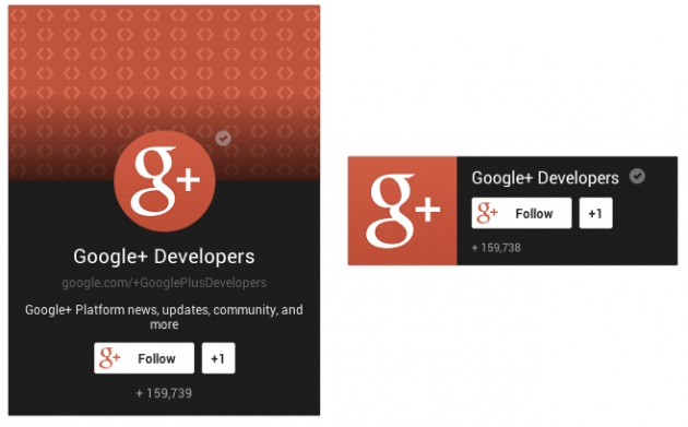 Badge for Google+ Pages