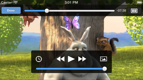 VLC for iOS playing bunny video