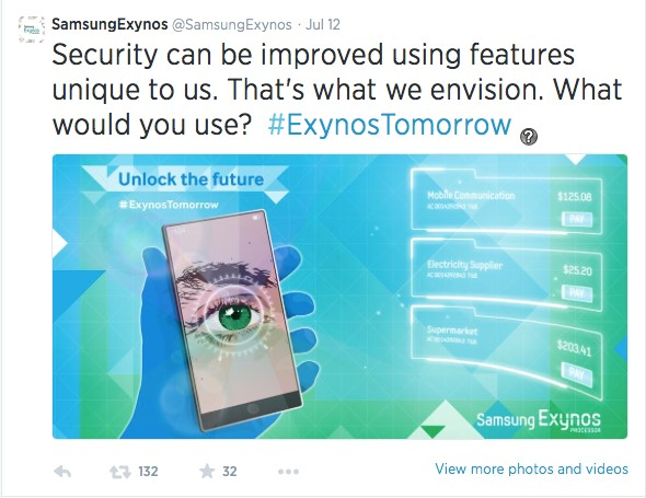 galaxy note 4 with eye scanner