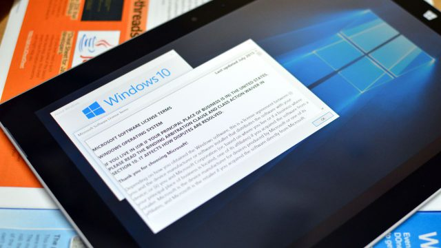 Microsoft Windows 10 EULA