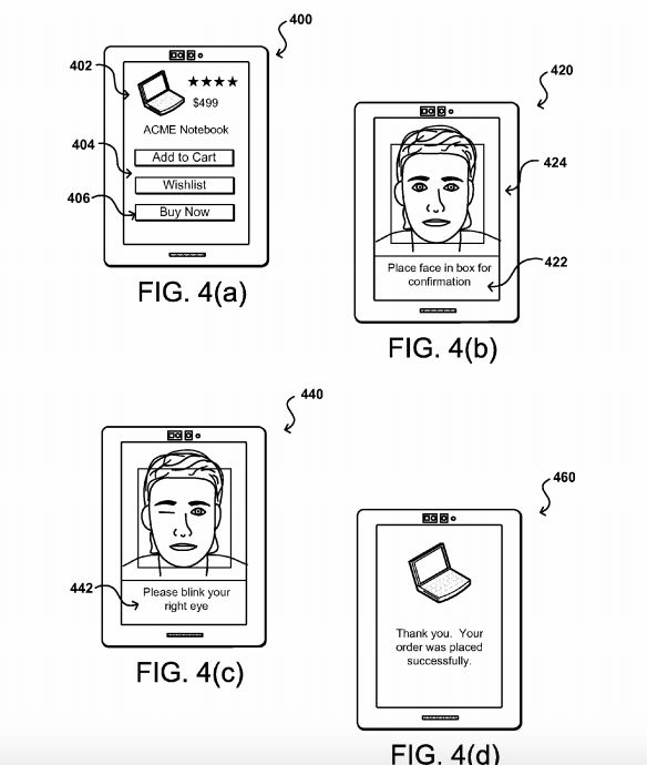 Amazon Pay-by-Selfie Patent